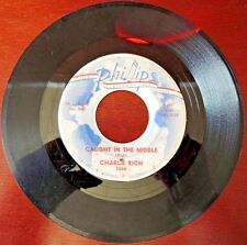 Rare Charlie Rich Phillips 3566 45rpm Caught In The Middle Who Will Be Next VTG