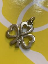 Gorgeous James Avery Sterling Silver Shamrock of Hearts Clover Charm