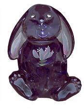 Fenton / QVC Violiet #C21959 Floppy Earred #5393 Bunny HP Passion Flower Design