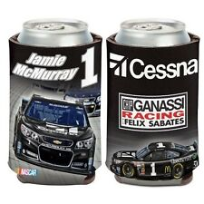 NEW Jamie McMuray #1 CESSNA 12 OZ Can Coozie Cooler Hugger NASCAR