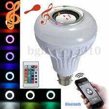 12W B22 LED RGB Bluetooth Musique Haut-parleur Speaker Ampoule Sans fil Lampe