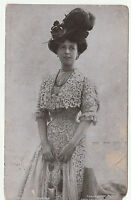 Vintage MAUD WYNTER Stage Actress Edwardian POSTCARD c1905 Posted & Handwritten