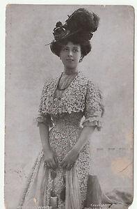 Vintage MAUD WYNTER Stage Actress Edwardian POSTCARD c1905 Posted & Handwritten