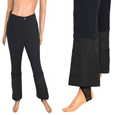 Vintage Skitique Black Ski Pants Flared Wool Spandex Stirrup Stretch 29x28