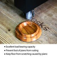 4PX Wood Upright Piano Caster Castor Cups Foot Pad Floor Protector Durable