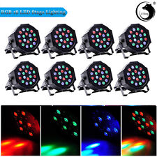 8/10PCS 36W RGB Stage Light 18 LED Par Mixing Color Light DMX Disco Party DJ US