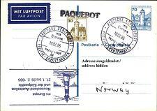 Dt. Schiffspost Stempel Schiff MS EUROPA Paquebot von der Pazifik Kreuzfahrt `85