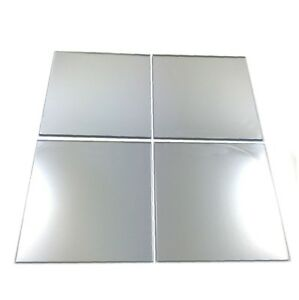 """Silver Mirrored Acrylic Square Crafting Mosaic/Wall Tiles Sizes 1cm-20cm 1""""-7.9"""""""