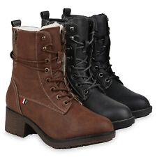 Damen Stiefeletten Winter Boots Warm Gefütterte Schnürstiefeletten 832673 Schuhe