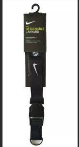 Nike Lanyard Detachable Keyring Black Unisex One Size 100% Genuine Brand New
