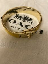 Coach Bangle Yellow Gold Tone Bracelet Turn-Lock Wristlet