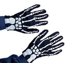 Fancy Dress Accessory ~ Childs Halloween Skeleton Gloves