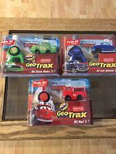 GEOTRAX Disney Pixar Cars RED, DOC HUDSON, CHICK HICKS, Turbo RC, Rare!!!