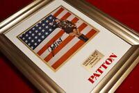 "George C. Scott SIGNED AUTOGRAPH ""PATTON"" PHOTO, DVD, Frame, COA UACC, 22k Stamp"