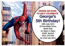 Unbranded Spider Man Invitaciones Y Tarjetas De Felicitación