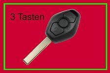 3T Schlüssel Fernbedienung BMW E39 E53 E60 E63 E70 3 Tasten Transponder Gehäuse