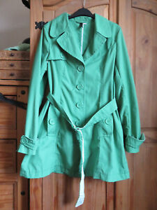 H&M DIVIDED GRASS GREEN UNLINED TRENCHCOAT EU42/UK14 - FOR GREYHOUND RESCUE