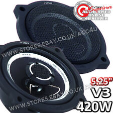 Vibe Slick 5 V3 Coaxial Custom Fit 420w Car Van Door Shelf Coaxial Speakers Pair