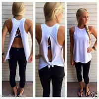 NEW Women Ladies Summer Vest Top Sexy Sleeveless Blouse Casual Tank Tops T-Shirt