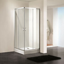 Shower Enclosure Corner Tempered Glass Room Sliding Doors Bathroom in CA