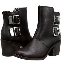 New Womens Rocket Dog Dundee Ankle Zip Boots Buckles Detail Black UK 3 EUR 36