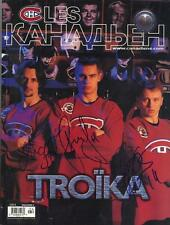 LES CANADIENS 03.2000: Zholtok (DIED) Zubrus Petrov RUSSIA ALL 3 SIGNED MAGAZINE