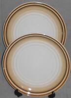 Set (2) Noritake Stoneware FANFARE PATTERN Dinner Plates MADE IN JAPAN