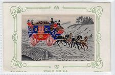 More details for the good old days: woven silk postcard by w h grant (c16518)