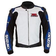"""Suzuki GSXR Gixxer """"R"""" Leather Motorcycle Jacket"""
