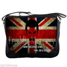 "Freddie Mercury Queen Sling Messenger Bag 14"" Textbook Notebook Laptops School"