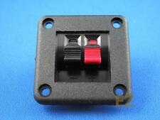 2x Square Speaker Terminal Plate Push In Type Spring Level sub-woofer 2 Position