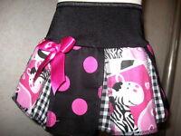Zebra pink Skirt Black white spot check pleated Shower Gift Alternative Baby
