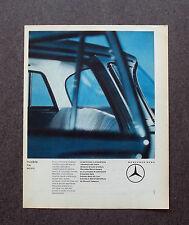 H698 - Advertising Pubblicità -1964- MERCEDES BENZ , INVISIBILE MA SICURO