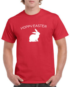 Hoppy Easter T Shirt Happy Easter Sunday Bunny T-Shirt Holiday Outfit Christian