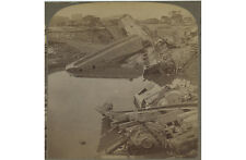 TRAIN/RR CARS SUBMERGED IN WATER, SANTA FE YARDS, KANSAS CITY, MO, STEREOVIEW