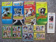 Baseball Card Display Box & Card Bottoms Collection, 1977-1991