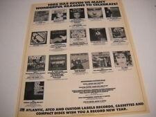 U2 Twisted Sister Ratt Laura Branigan Phil Collins others 1985 Promo Poster Ad
