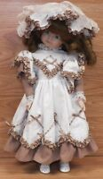 Hello Dolly 1989 Albert E Price Little Girl Porcelain Doll With Stand **READ**