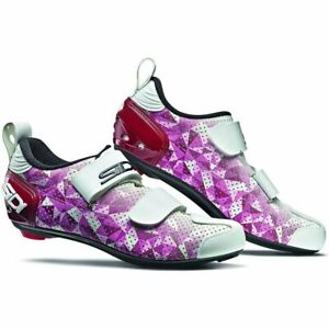Sidi T-5 Air Ladies Triathlon Bicycle Cycle Bike Shoes Rose / Jester Red / White