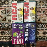 Lot Of 4 T-120 VHS Blank Tapes 6 Hour Sealed RCA SAMSUNG