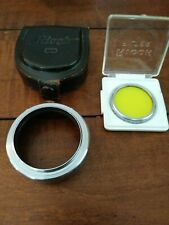 Ricoh Series VI 6 Metal Lens Hood & Series 5 Y2 Yellow Filter Kit + Case