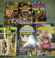 Lot of 6 WWF WWE VHS Coliseum Videos Factory Sealed A Hogan Warrior HBK Taker