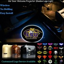 2x LSU Tigers Logo Wireless Car Door Laser Projector Cree LED Ghost Lights