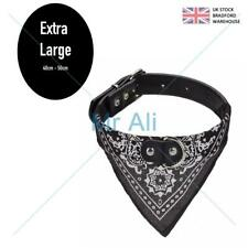 Dog Bandana Collar- Adjustable Pet Neckerchief- Extra Large Black
