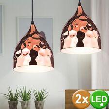 Lot de 2 lampes à pendule à LED lampe salle à manger marteau coup plafonnier