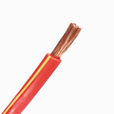 Auto Electrical Power Wire 4 Ga Gauge Red Copper Clad Underground Amp Cable 20FT