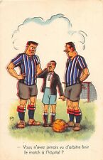 C99/ Sports Postcard Soccer Football Futball Comic France c1950s Players 23