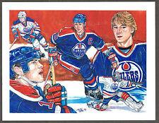 "1992  #'d ""John McLean"" Art Print, 8.5""x11"", Edmonton Oilers, Wayne Gretzky"