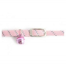 Ancol Reflective Softweave Elastic Cat Collar Pink