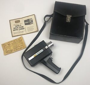 SEARS easi-load C160 SUPER 8 Reflex Zoom Movie CAMERA w/ case manual film *READ*